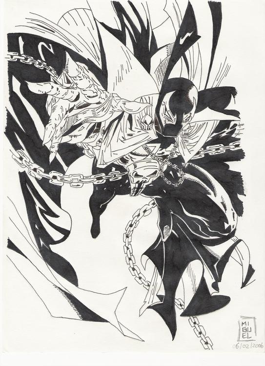 Spawn flying - illustration, drawing - miguelcoelho | ello