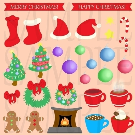 Christmas Clip Art - illustration - bridgetpavalow | ello