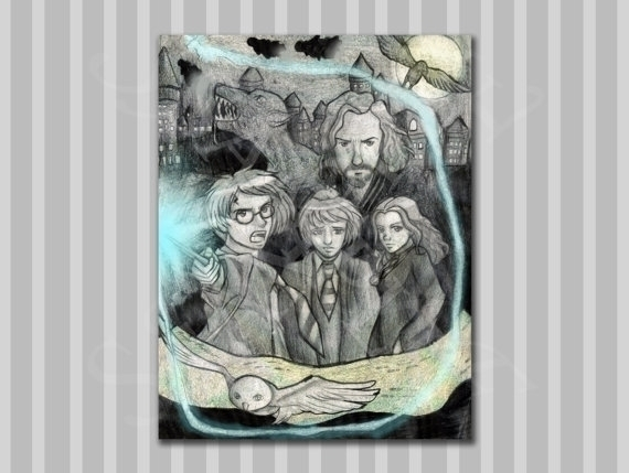 Harry Potter Print, sale Etsy s - bridgetpavalow | ello