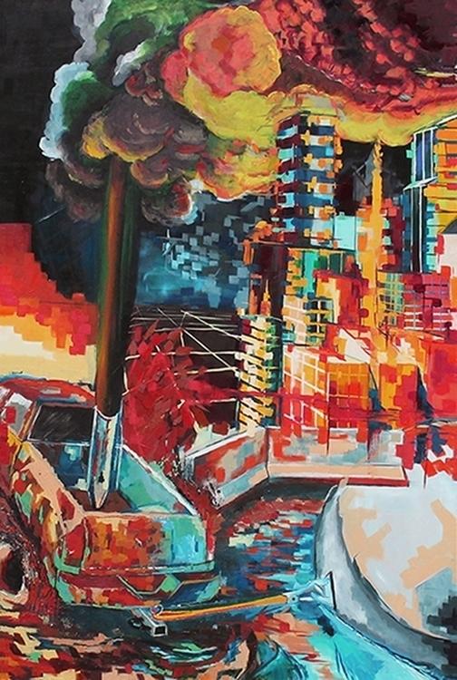 Overhaulin - painting, truck, city - mab-3070 | ello