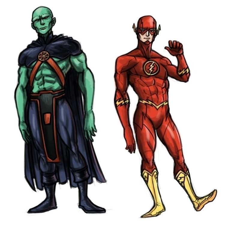 Martian Manhunter Flash - martianmanhunter - toyhenoctus | ello