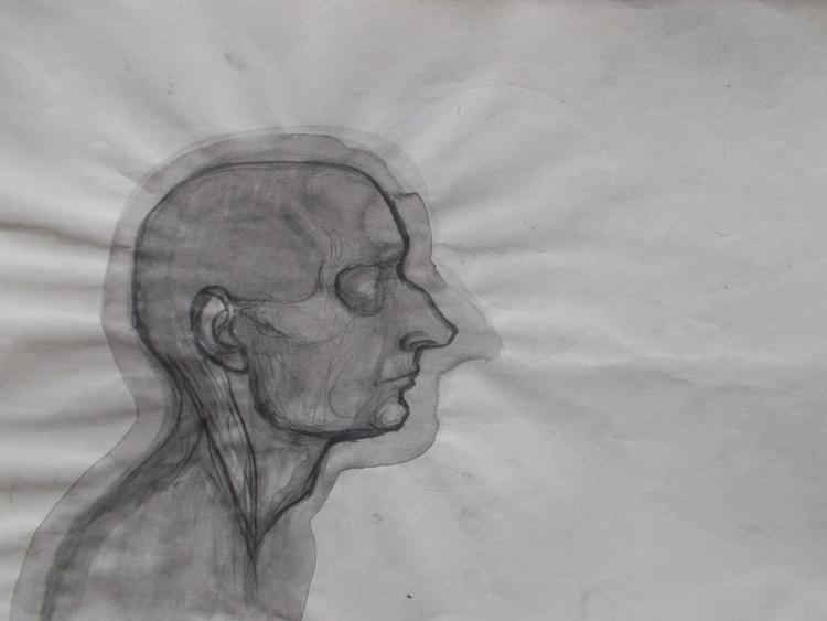 ,,Autoportret''; tuš grafit na  - ivanmitic | ello
