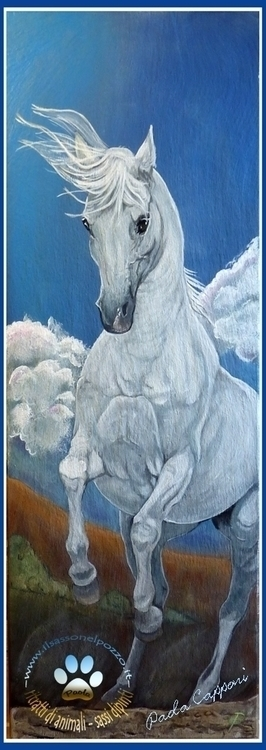 Horse - painting, horse, horsesinaction - ilsassonelpozzo | ello