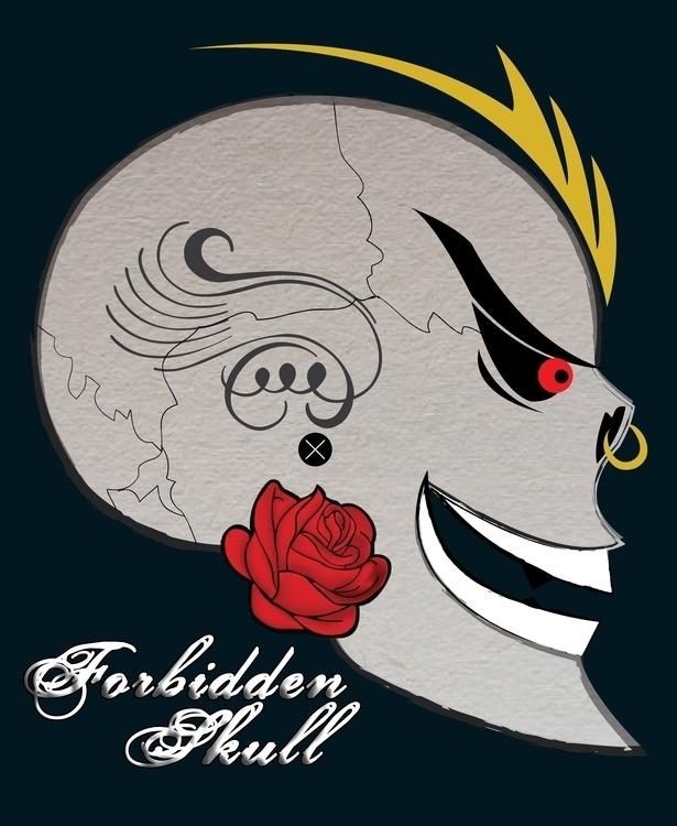 Skulls Roses - skull, vectorillustration - hardkor   ello