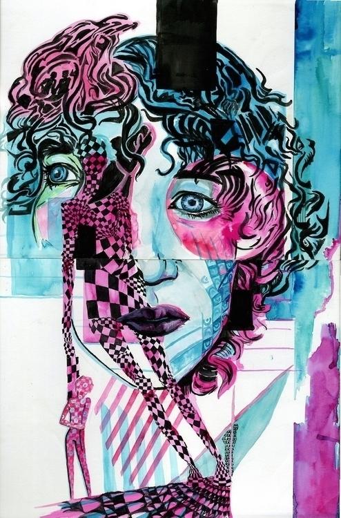 Awkward  - illustration, painting - kyleand | ello