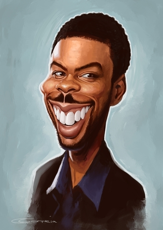 Chris Rock Caricature - illustration - nightshadeberry | ello
