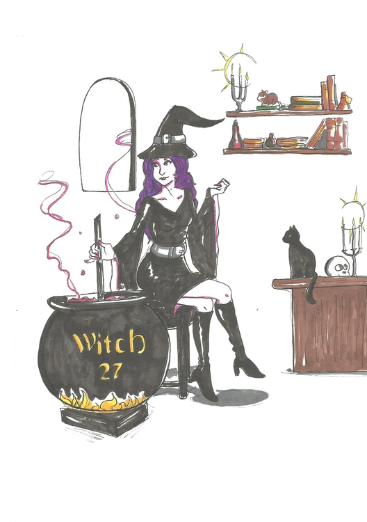 27 Witch - illustration, conceptart - hotshots2000 | ello