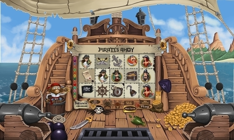 pirates slot - gameart, drawing - artolgash | ello
