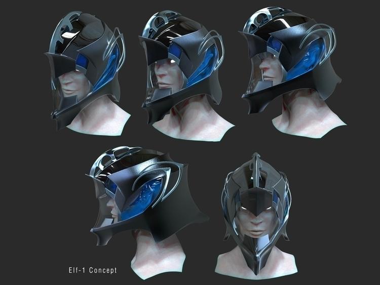 Helmet (Prototype - 3d, characterdesign - kimkiao | ello