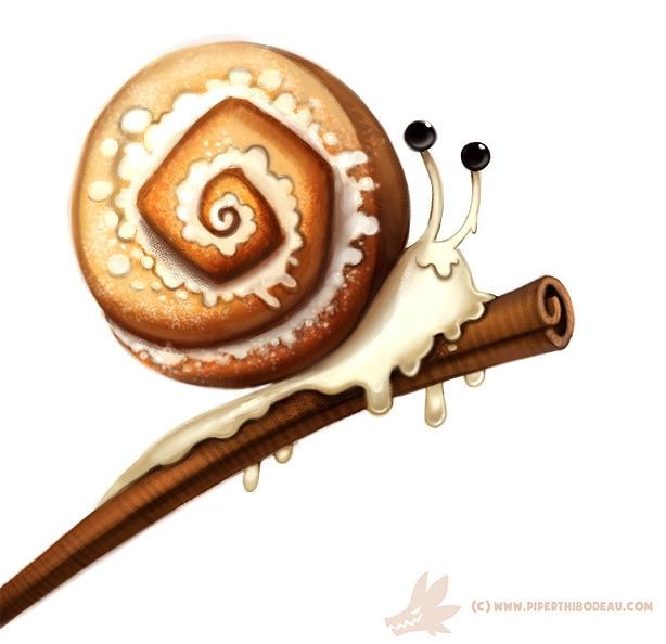 Daily Paint Cinnamon Snail - 1010. - piperthibodeau | ello