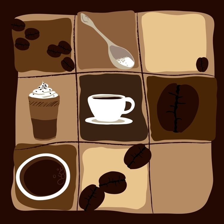 Coffee - illustration, vector, vectorart - hanna-1284 | ello