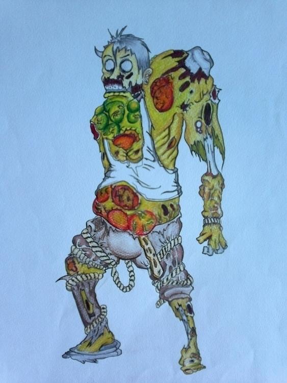Retarded zombie - characterdesign - tmc-9567 | ello