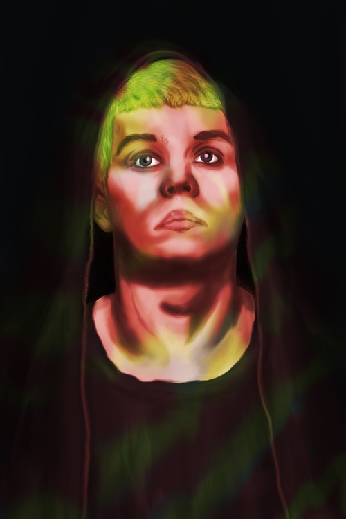 Yung Lean - illustration, vaporwave - mike_chaos | ello