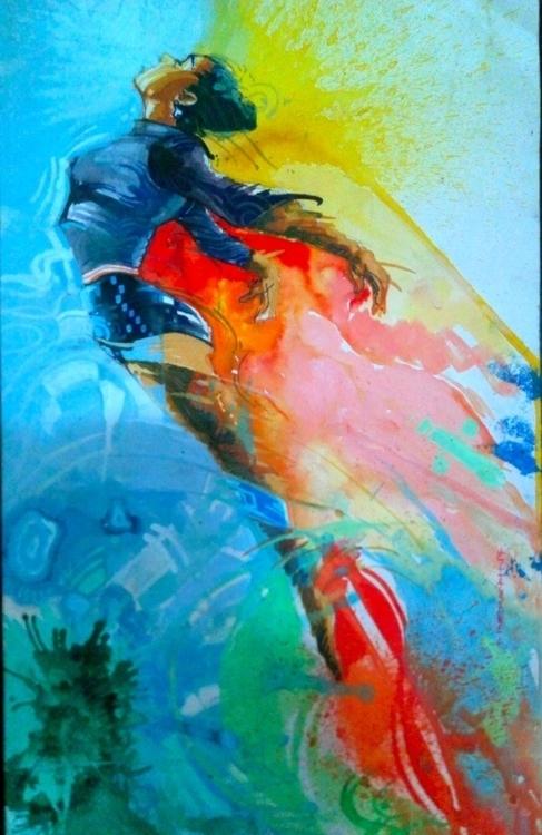 escape - painting, mixedmedia - sunnyefemena | ello
