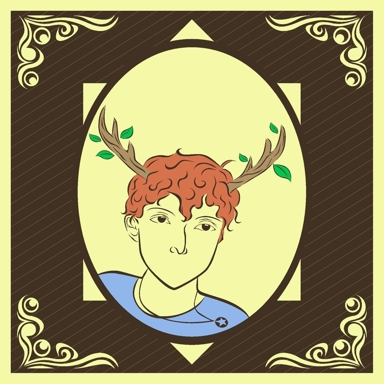 halfdeer - illustration, vector - go_andryosa | ello
