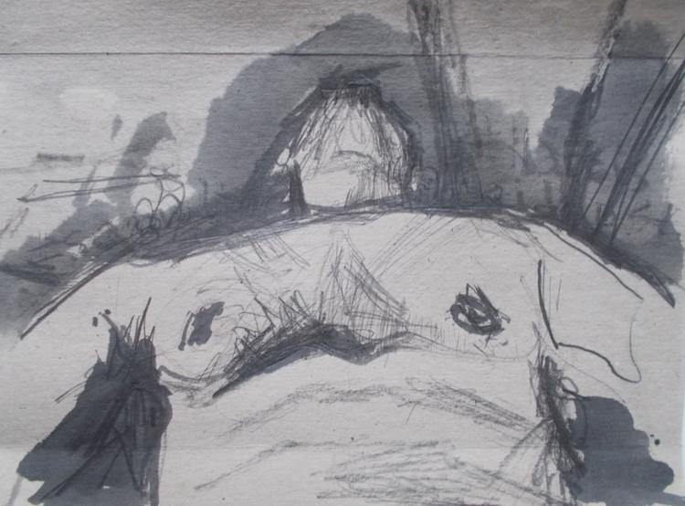 ,,Narcis''; grafit tuš na karto - ivanmitic   ello