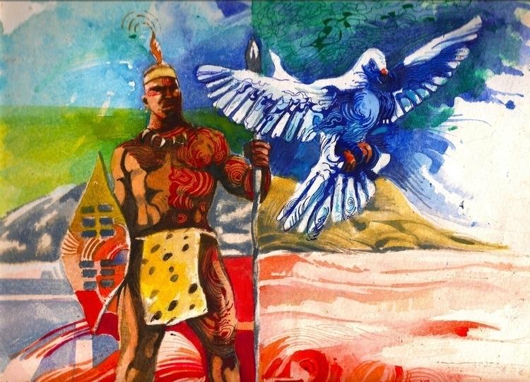 war peace 2 - painting - sunnyefemena | ello