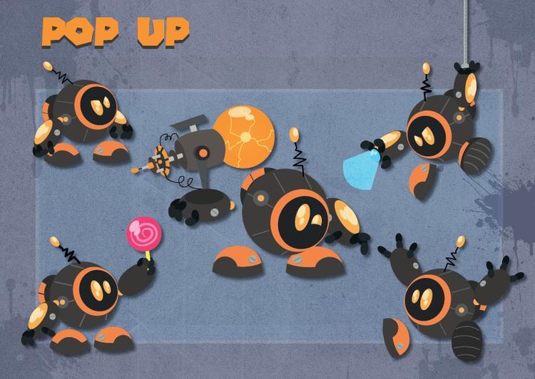 pop robot 2 - illustration, characterdesign - michelverdu | ello