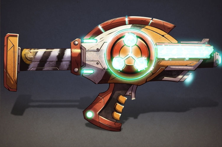 Plasma rifle - illustration, painting - michelverdu | ello