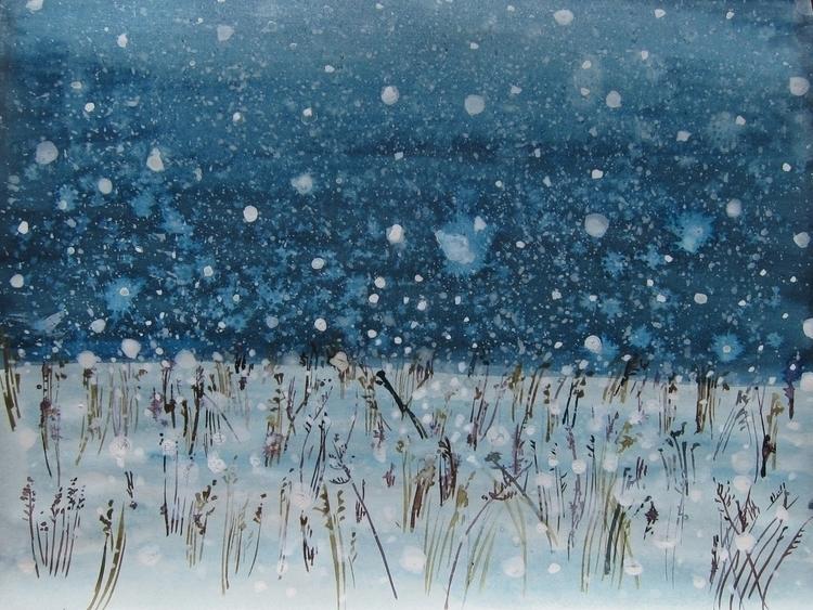 ink, snow, illustration, drawing - vitacalm | ello
