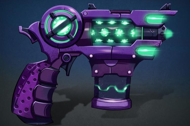 Plasma Gun - illustration, painting - michelverdu | ello