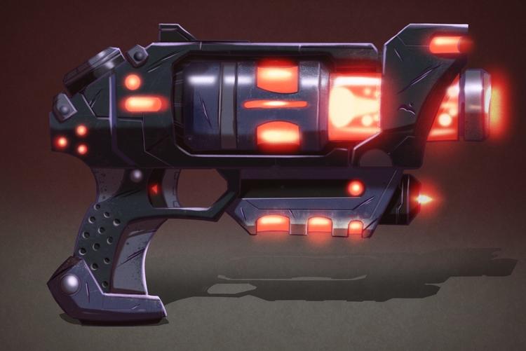 Laser pistol - plasma, gun, laser - michelverdu | ello