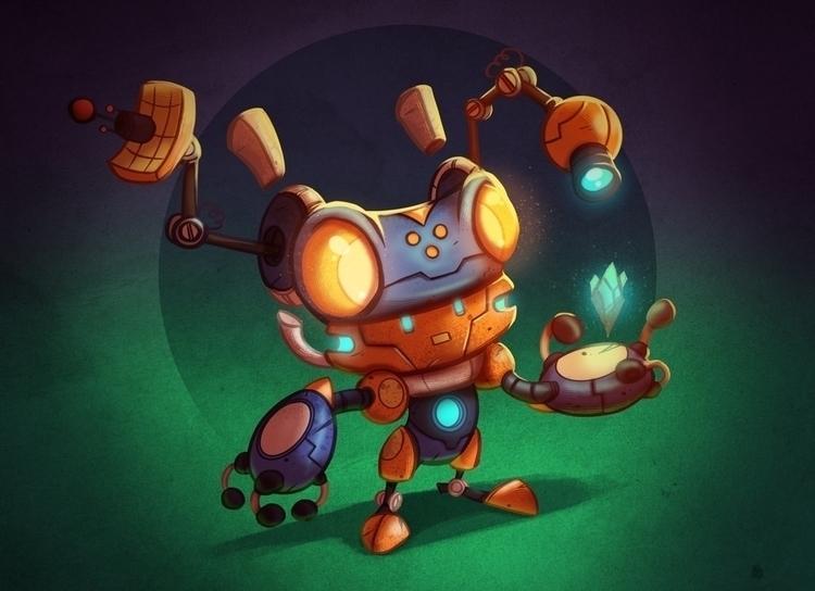 explorer-bot - illustration, characterdesign - michelverdu | ello