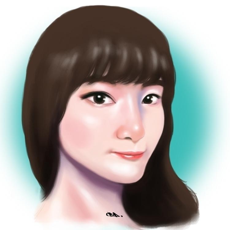 portrait friend - illustration, painting - czacaesar | ello