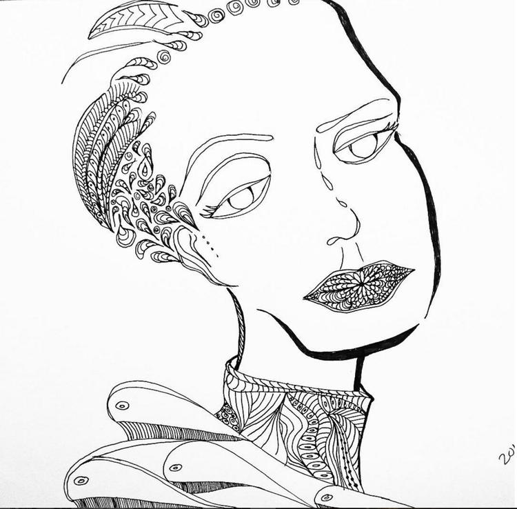 #doodle#whales#lady#sketch - binhtu | ello