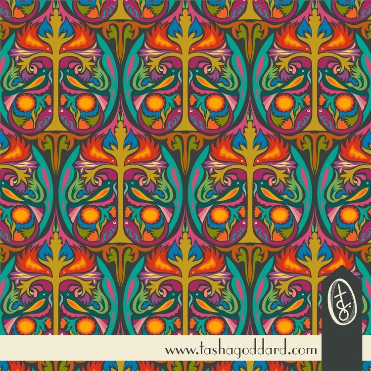 Folk Ogee Birds - papercut-/fol - tashagoddard | ello