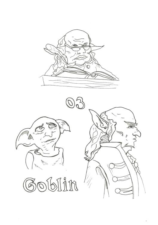 Lineart 03 Goblin - illustration - hotshots2000 | ello