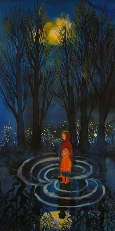ink, paper, forest, fairytale - vitacalm | ello