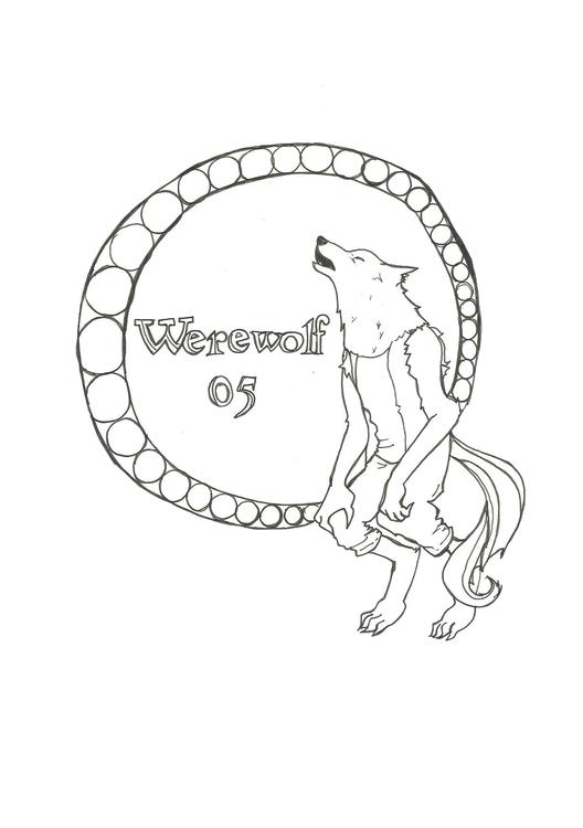 Lineart 05 Werewolf - illustration - hotshots2000 | ello