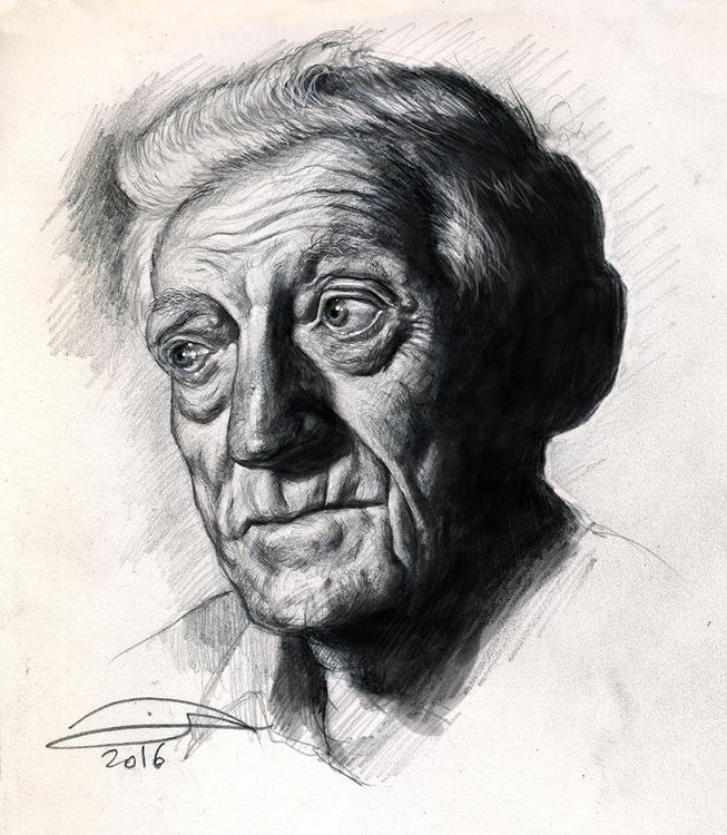 Portrait study older man - penc - baruchinbar | ello