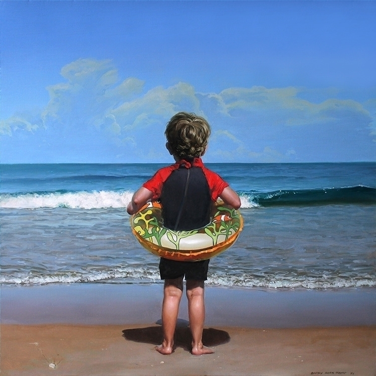 plunge (boy) oil canvas 60 cm 2 - spud-5454 | ello