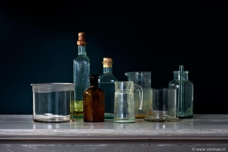 Stilleven met oude flessen - photography - vanmas | ello