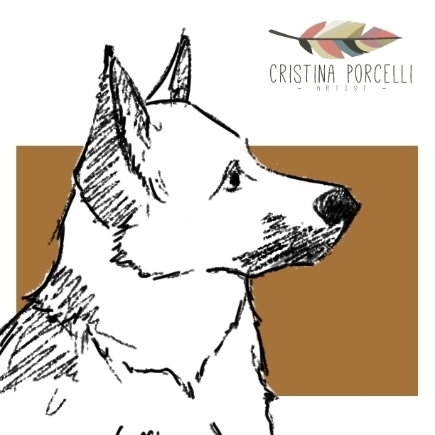Portrait sweet dog!  - illustration - cristinaporcelli   ello