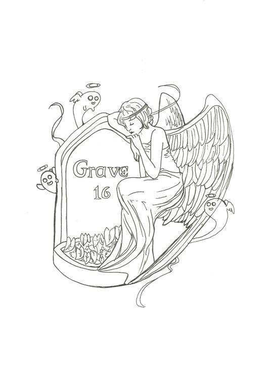 Lineart 16 Grave - illustration - hotshots2000 | ello