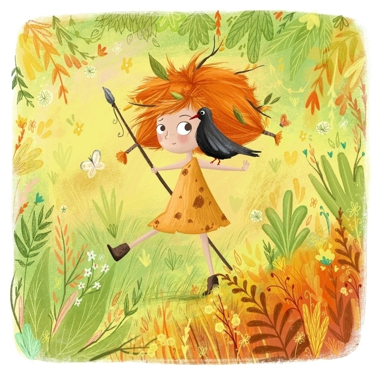Jungle Kid - illustration, jungle - illustratelucy | ello