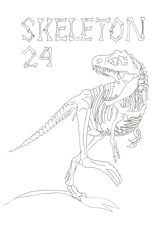 Lineart 24 Skeleton - illustration - hotshots2000 | ello