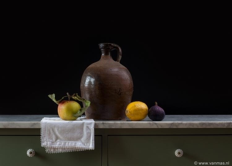 Stilleven met kruik en fruit - photography - vanmas | ello