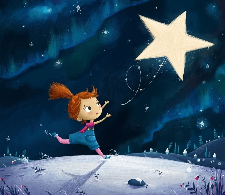 Lost Star - illustration, star, girl - illustratelucy | ello