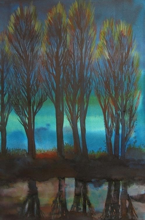 illustration, drawing, trees - vitacalm | ello