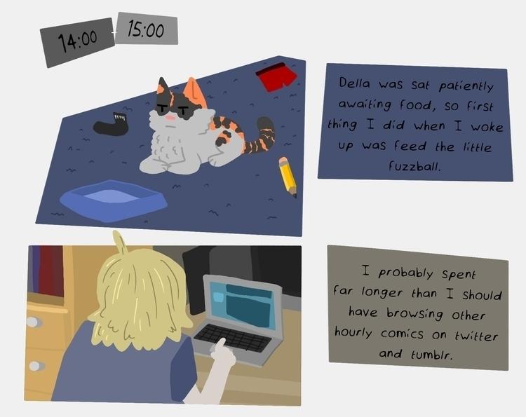 Hourly Comic Day, Part 8/15 - hourlycomicday - odddino | ello