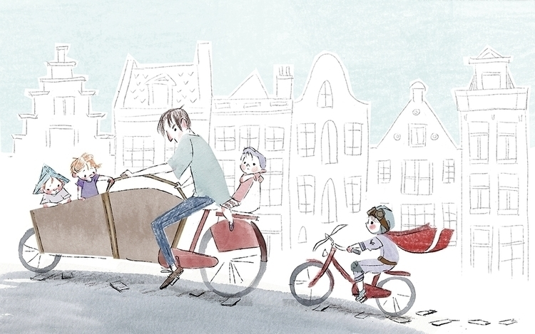 Bicycle Life - illustration, kidlitart - elizabetvukovic | ello