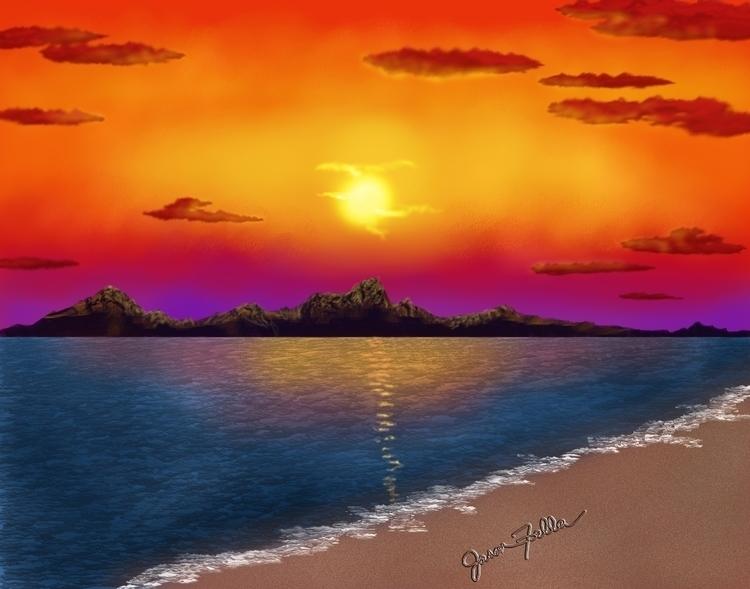 'Til Morning. digital seascape  - jasonfella   ello