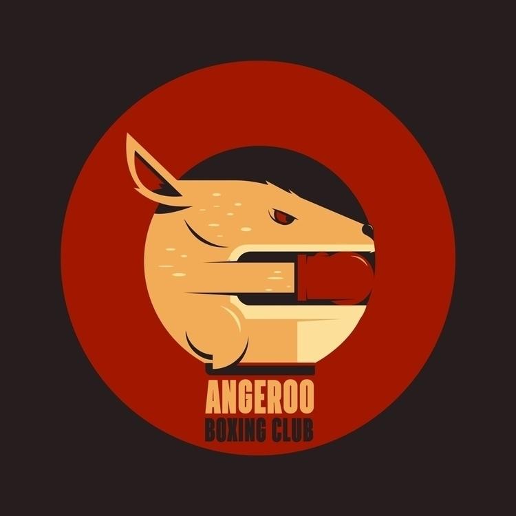 Boxing Kangaroo - illustration, design - rustamization | ello