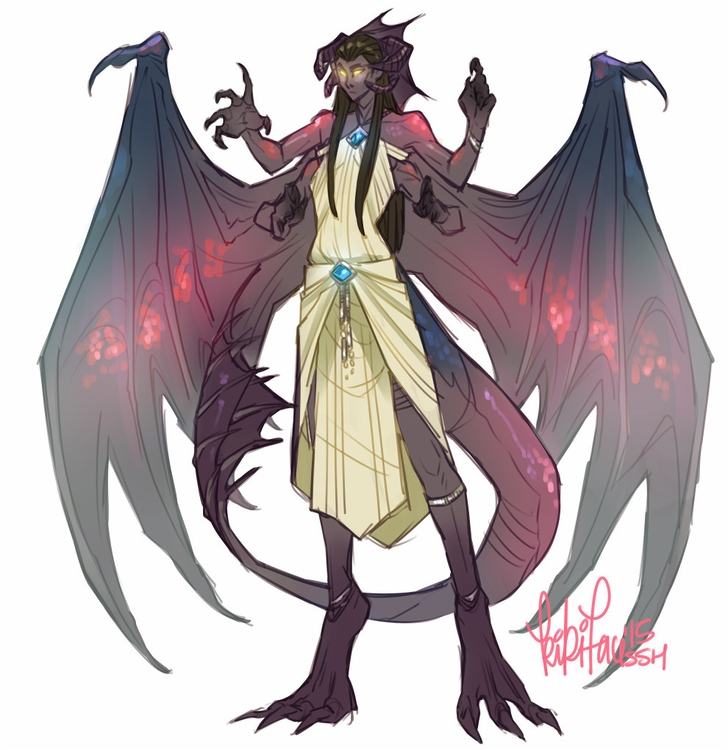 Dragon lady character design - characterdesign - kikiface | ello