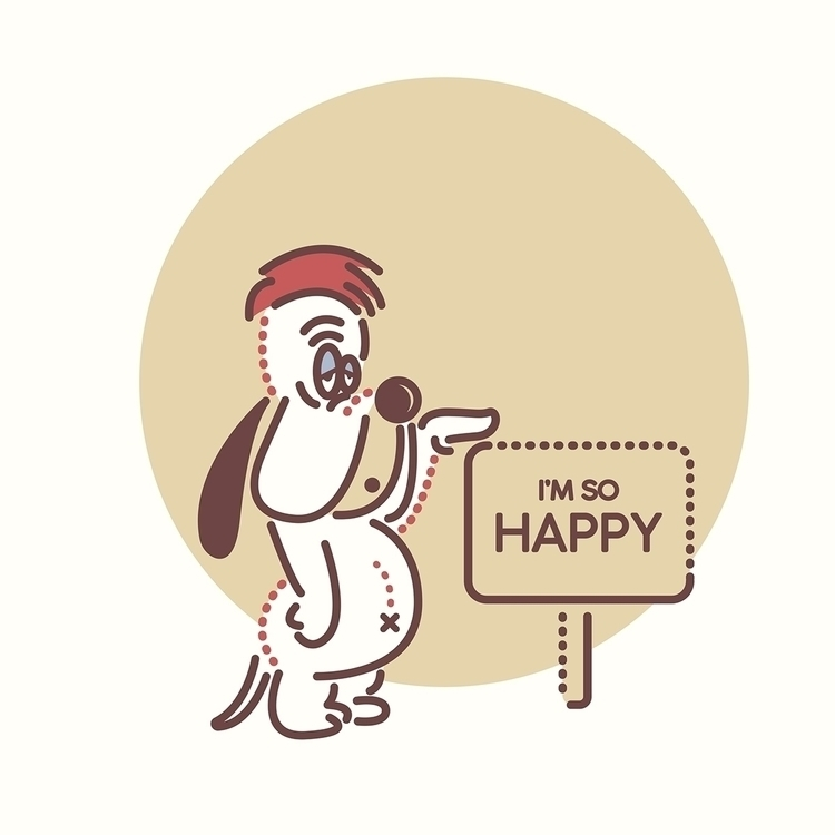 Droopy Dog - illustration, cartoon - rustamization | ello