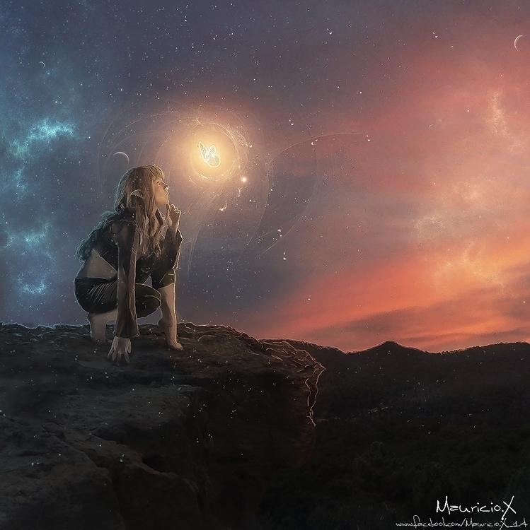 Mystic Elf - illustration, photography - mauriciox-1463 | ello